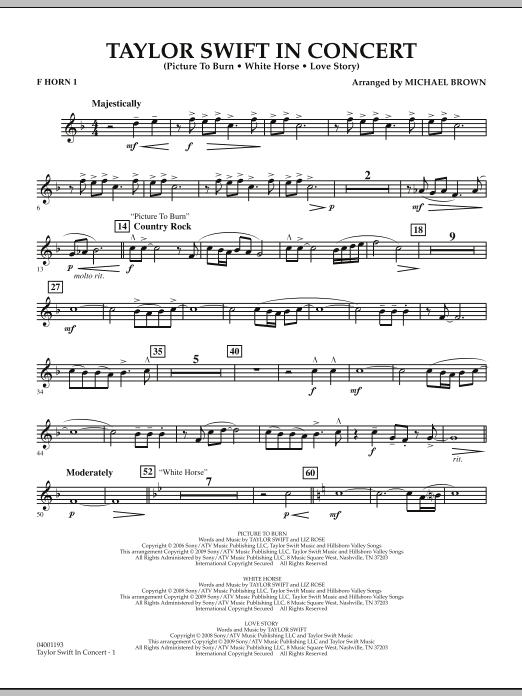 Taylor Swift - In Concert - F Horn 1 (Concert Band)