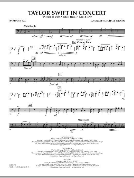 Taylor Swift - In Concert - Baritone B.C. (Concert Band)