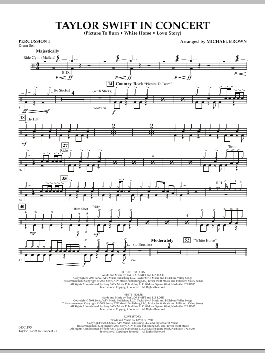 Taylor Swift - In Concert - Percussion 1 (Concert Band)