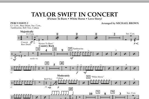 Taylor Swift - In Concert - Percussion 2 (Concert Band)