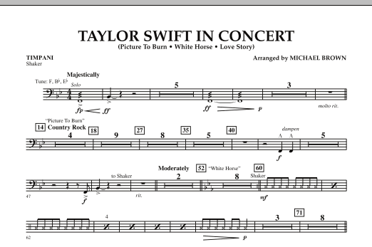 Taylor Swift - In Concert - Timpani (Concert Band)
