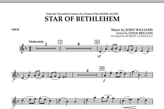 """The Star of Bethlehem (from """"Home Alone"""") - Oboe (Concert Band)"""