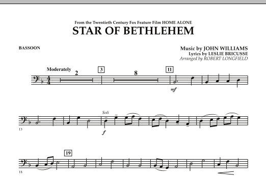 "The Star of Bethlehem (from ""Home Alone"") - Bassoon (Concert Band)"