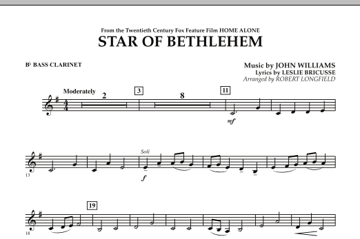 "The Star of Bethlehem (from ""Home Alone"") - Bb Bass Clarinet (Concert Band)"