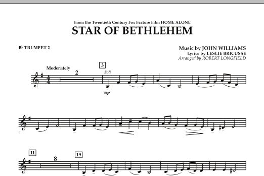 """The Star of Bethlehem (from """"Home Alone"""") - Bb Trumpet 2 (Concert Band)"""