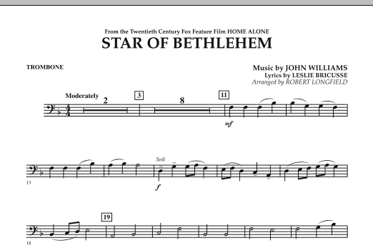 """The Star of Bethlehem (from """"Home Alone"""") - Trombone (Concert Band)"""