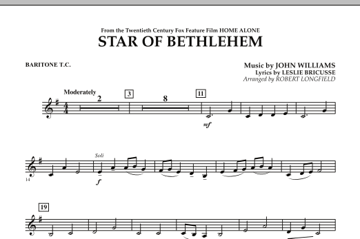"The Star of Bethlehem (from ""Home Alone"") - Baritone T.C. (Concert Band)"
