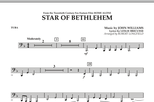 """The Star of Bethlehem (from """"Home Alone"""") - Tuba (Concert Band)"""