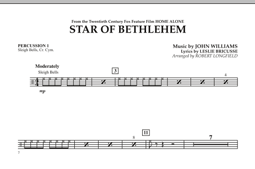 """The Star of Bethlehem (from """"Home Alone"""") - Percussion 1 (Concert Band)"""