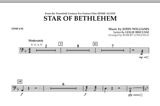 "The Star of Bethlehem (from ""Home Alone"") - Timpani (Concert Band)"