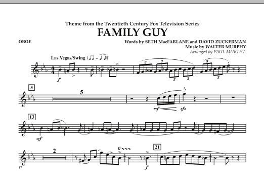 Theme from Family Guy - Oboe (Concert Band)