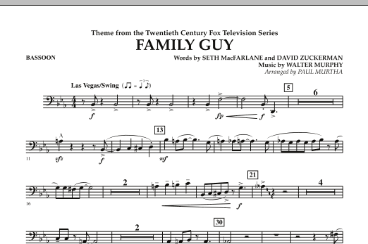 Theme from Family Guy - Bassoon (Concert Band)