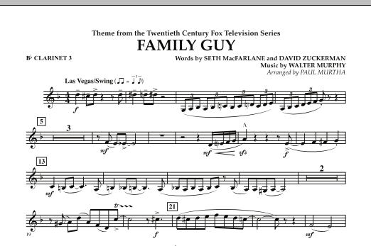 Theme from Family Guy - Bb Clarinet 3 (Concert Band)