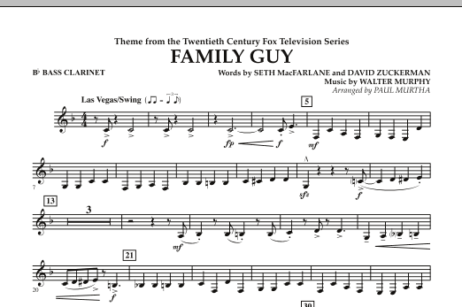 Theme from Family Guy - Bb Bass Clarinet (Concert Band)