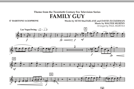 Theme from Family Guy - Eb Baritone Saxophone (Concert Band)
