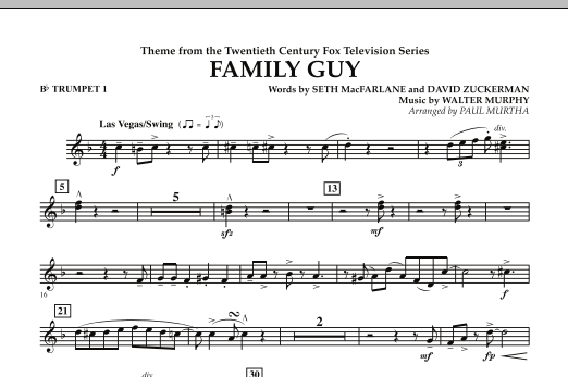 Theme from Family Guy - Bb Trumpet 1 (Concert Band)