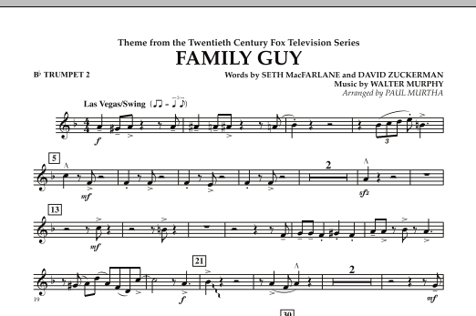 Theme from Family Guy - Bb Trumpet 2 (Concert Band)