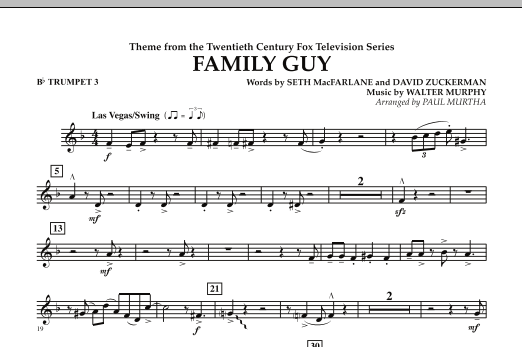 Theme from Family Guy - Bb Trumpet 3 (Concert Band)