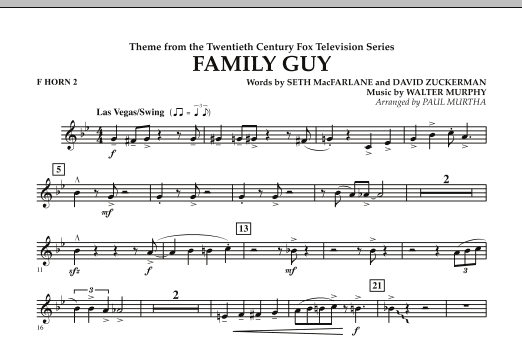 Theme from Family Guy - F Horn 2 (Concert Band)