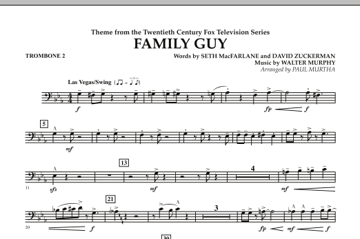 Theme from Family Guy - Trombone 2 (Concert Band)