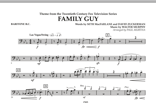 Theme from Family Guy - Baritone B.C. (Concert Band)