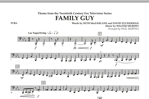 Theme from Family Guy - Tuba (Concert Band)