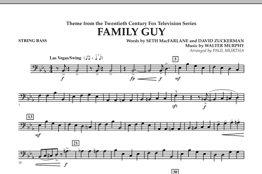 Theme from Family Guy - String Bass (Concert Band)