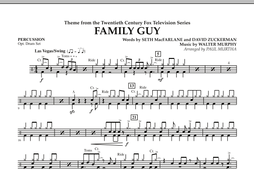 Theme from Family Guy - Percussion (Concert Band)