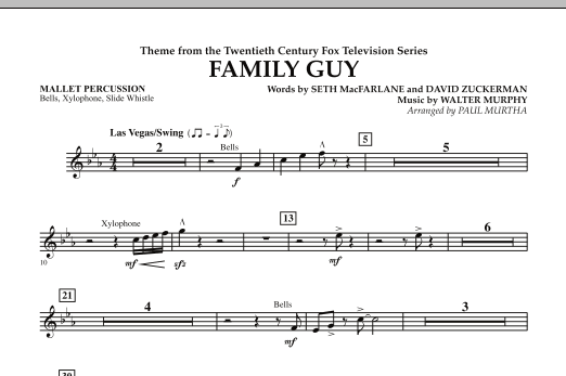 Theme from Family Guy - Mallet Percussion (Concert Band)