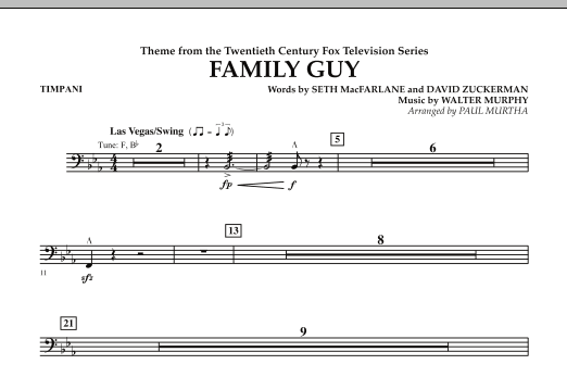 Theme from Family Guy - Timpani (Concert Band)