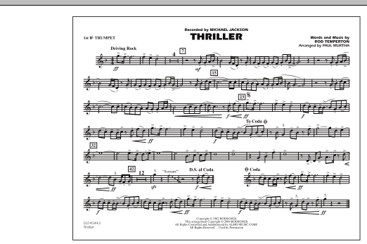 Thriller - 1st Bb Trumpet (Marching Band)