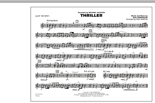Thriller - 2nd Bb Trumpet (Marching Band)