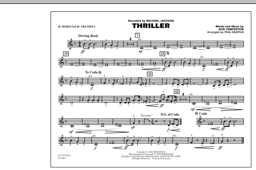 Thriller - Bb Horn/3rd Bb Tpt (Marching Band)