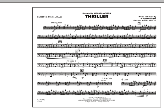 Thriller - Baritone B.C. (Opt. Tbn. 2) (Marching Band)