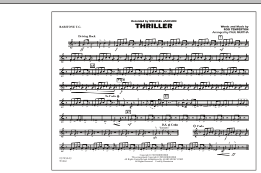 Thriller - Baritone T.C. (Marching Band)