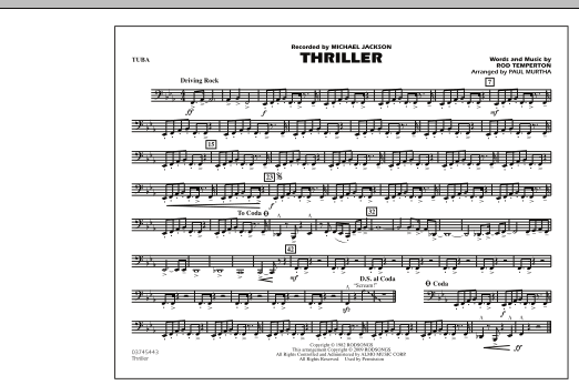Thriller - Tuba (Marching Band)