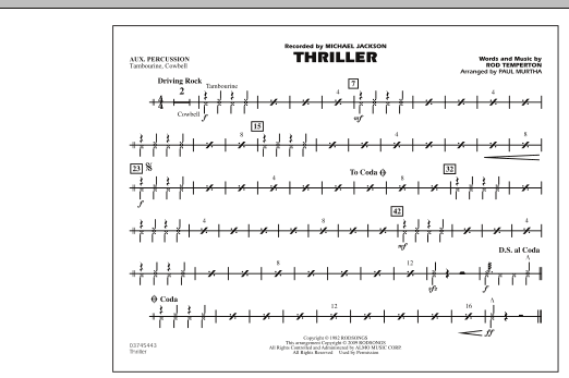 Thriller - Aux Percussion (Marching Band)