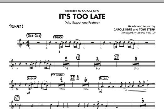 It's Too Late (Alto Saxophone Feature) - Trumpet 1 (Jazz Ensemble)