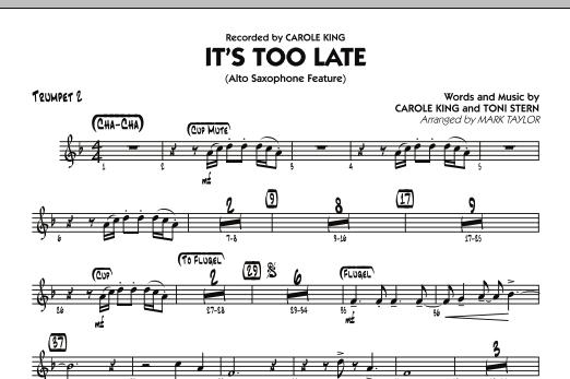 It's Too Late (Alto Saxophone Feature) - Trumpet 2 (Jazz Ensemble)