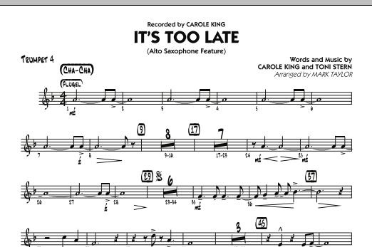 It's Too Late (Alto Saxophone Feature) - Trumpet 4 (Jazz Ensemble)