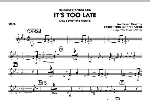 It's Too Late (Alto Saxophone Feature) - Vibes (Jazz Ensemble)