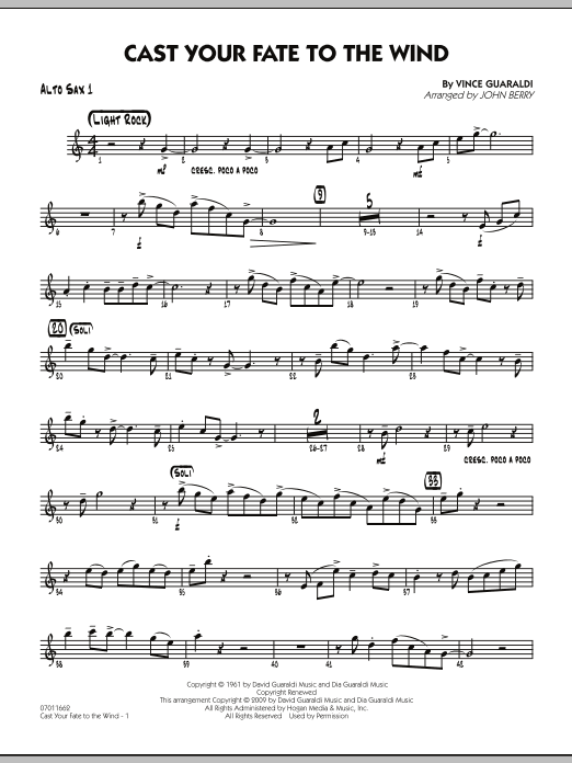 Cast Your Fate to the Wind - Alto Sax 1 (Jazz Ensemble)