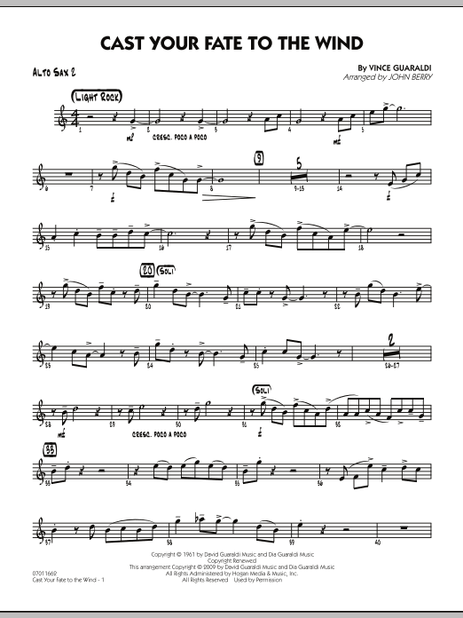 Cast Your Fate to the Wind - Alto Sax 2 (Jazz Ensemble)