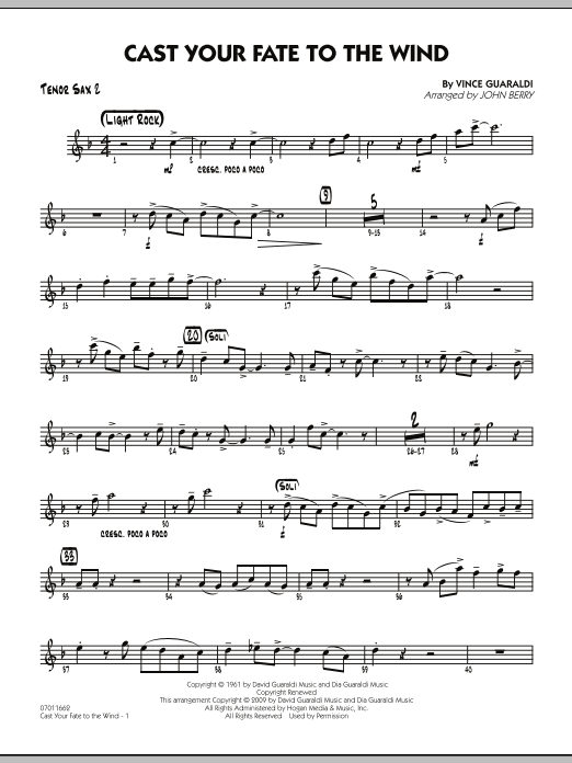 Cast Your Fate to the Wind - Tenor Sax 2 (Jazz Ensemble)
