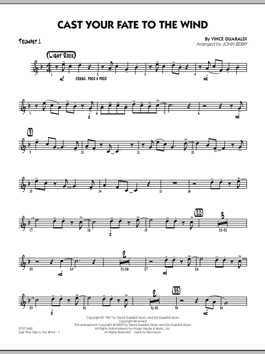 Cast Your Fate to the Wind - Trumpet 1 (Jazz Ensemble)