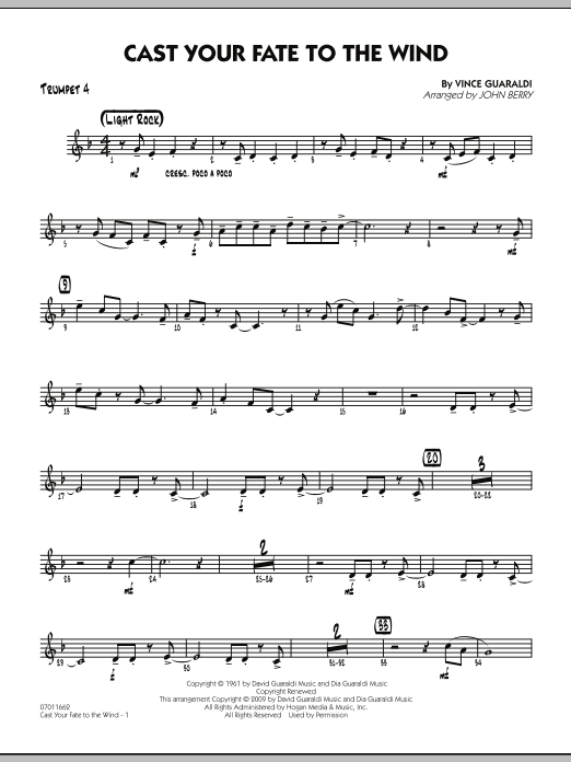 Cast Your Fate to the Wind - Trumpet 4 (Jazz Ensemble)