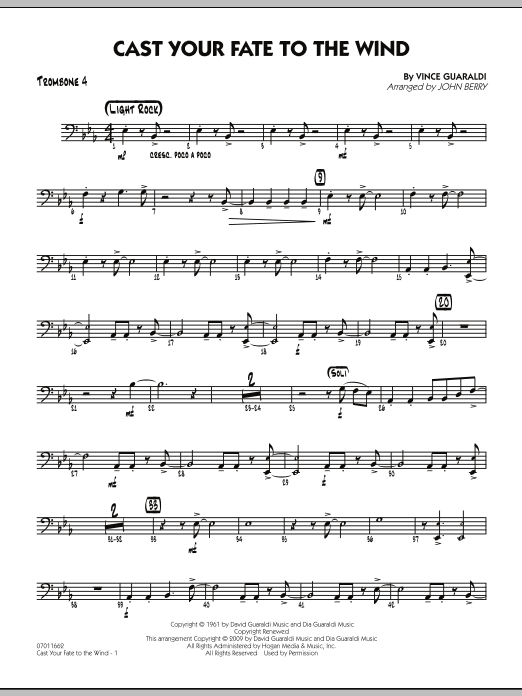 Cast Your Fate to the Wind - Trombone 4 (Jazz Ensemble)