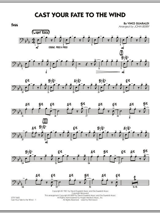 Cast Your Fate to the Wind - Bass (Jazz Ensemble)