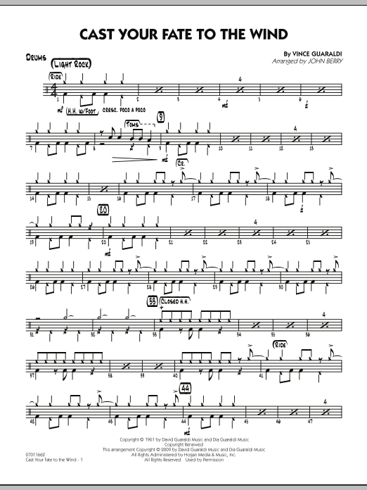 Cast Your Fate to the Wind - Drums (Jazz Ensemble)