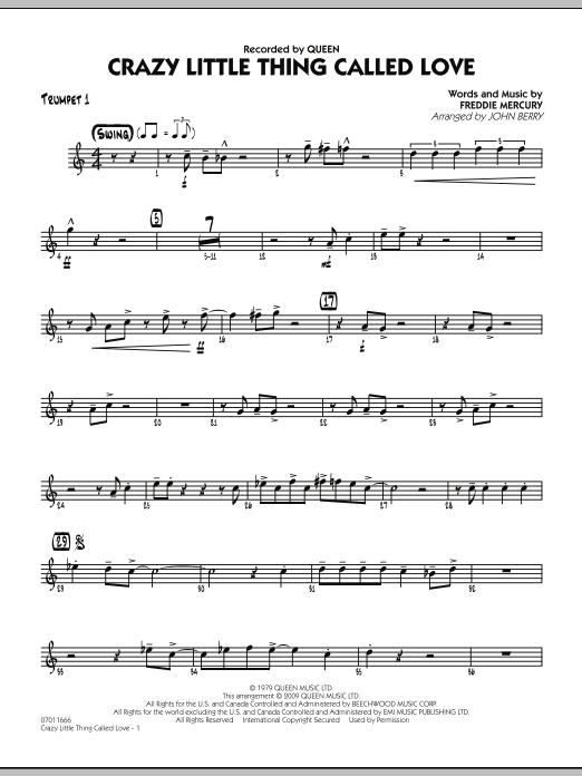 Crazy Little Thing Called Love - Trumpet 1 (Jazz Ensemble)